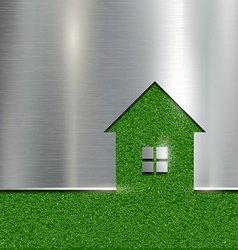 The contour of the house on a grass background vector image