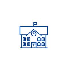 town hallcity hall line icon concept town hall vector image