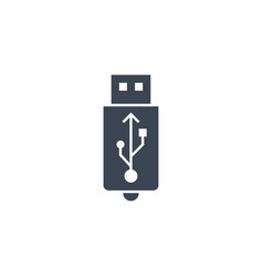 usb related glyph icon vector image