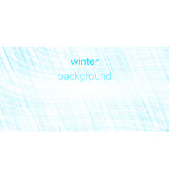 winter blue background vector image
