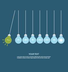 creative light bulb idea concept vector image vector image