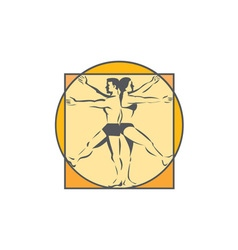 Da vinci male female side arms legs line drawing vector