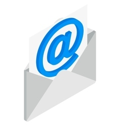 Email icon isometric 3d style vector image vector image