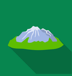 green mountainsmountain with snowdifferent vector image