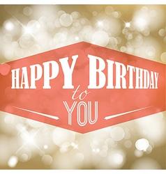 Happy birthday retro vector image vector image