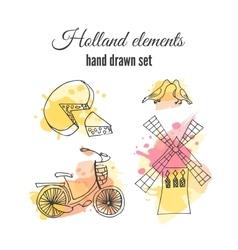 holland decorative elements Netherlands vector image vector image