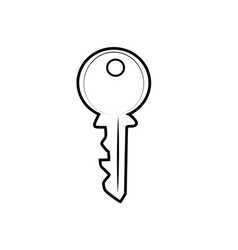 key for house sketch icon vector image