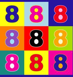 number 8 sign design template element pop vector image