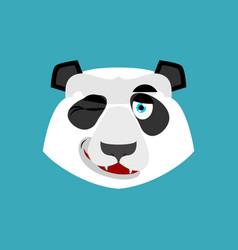 panda winking emoji chinese bear happy emotion vector image vector image