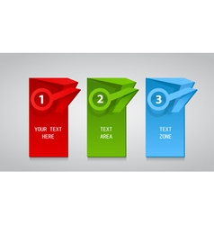 set of different color labels with text vector image