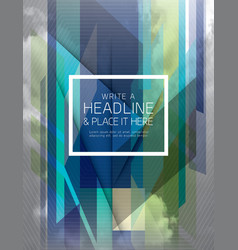 Abstract fractal futuristic Background design vector image vector image