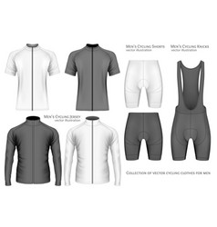 Collection of cycling clothes vector