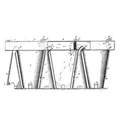 furnace condenser vintage vector image vector image