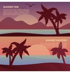 landscape in tropics vector image vector image