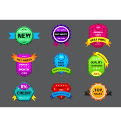 set of different color labels vector image vector image