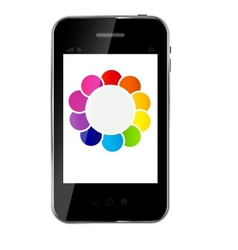Abstract design phone for different business vector image vector image