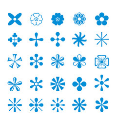 cute set icon flower isolated design vector image