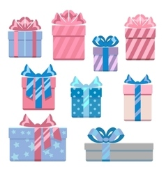 Gift boxes in pastel colors vector image