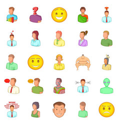humanity icons set cartoon style vector image