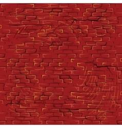 Seamless Cartoon Grunge Brickwall Pattern vector image vector image