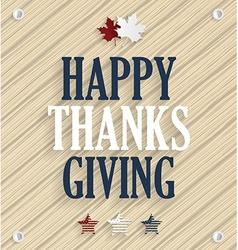 Thanksgiving design vector image vector image