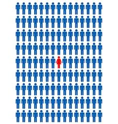 Woman versus men vector image