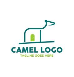 camel logo-20 vector image vector image