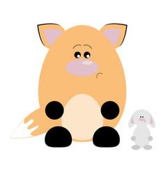 fox and rabbit sad vector image vector image