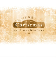 Golden Merry Christmas Greeting Card vector image vector image