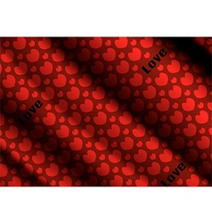 Heart cloth background of Valentins Day vector image vector image
