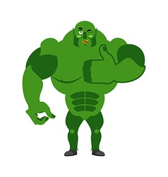 Ogre thumbs up showing well Sign all right Jolly vector image vector image