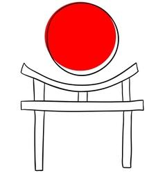 Torii gate vector image
