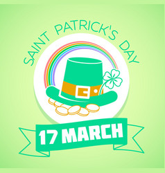 17 march patricks day green vector
