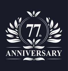 77 years anniversary logo 77th anniversary vector