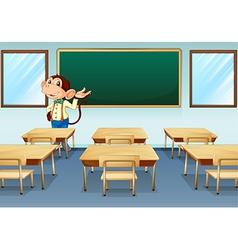 A monkey teacher vector