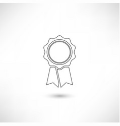 badge outline vector image