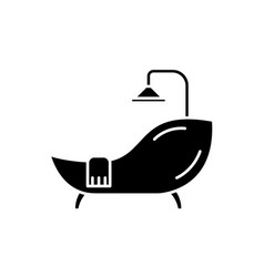 bath black icon sign on isolated vector image