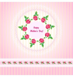 Beautiful roses post card for Mothers Day vector image