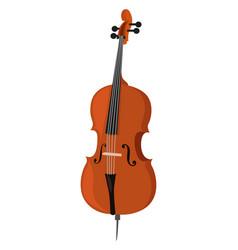Big cello on white background vector
