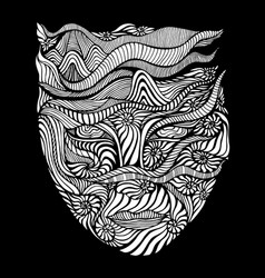 black and white psychedelic surreal vector image