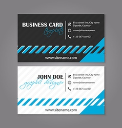 Business card template design for individual or vector