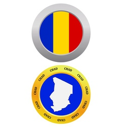 button as a symbol map CHAD vector image