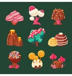 Cartoon Sweet Candy Land vector