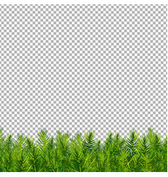 christmas tree border transparent background vector image
