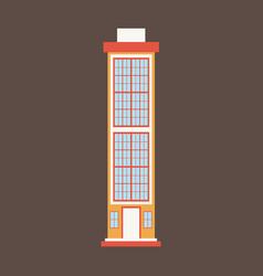 City skyscraper building urban design element vector