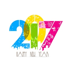 creative happy new year greeting design vector image