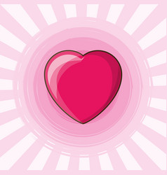 cute heart design vector image