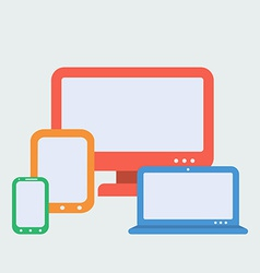 Devices for Responsive Web Design Flat Style vector image