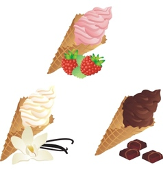 Different sorts of Ice Cream vector