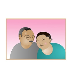 Elderly couple love forever vector